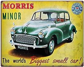 PotteLove Morris Minor 10x8 Metal Sign - Gift Idea Car Lover Rusty Auto Shabby Chic