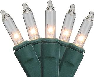 Sienna 2' x 8' Clear Twinkling Mini Christmas Net Style Tree Trunk Wrap Lights - Green Wire
