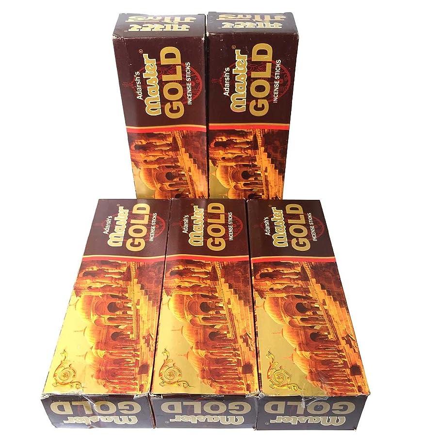 展開するおっと硬さマスターゴールド香スティック 5BOX(30箱)/ADARSH AROMATICS  MASTER GOLD/ インド香 / 送料無料 [並行輸入品]