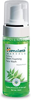 Himalaya Purifying Neem Foaming Face Wash with Neem and Turmeric for Occasional Acne, 5.07 oz (150 ml)