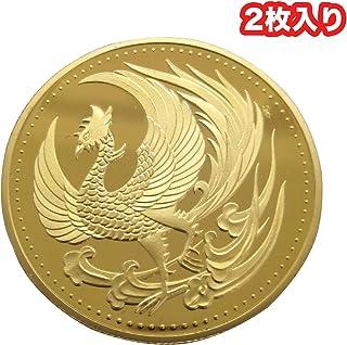 Takelablaze 日本金貨 鳳凰 菊御紋 金鍍金 ゴールド コイン メダル レプリカ 2枚入り