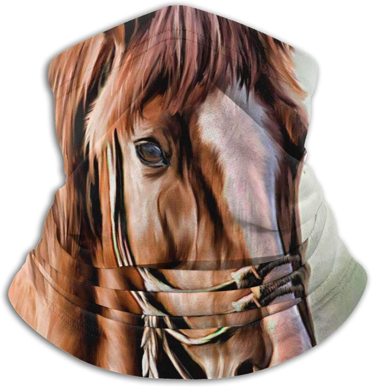 Tvsuh-u Neck Gaiter, Horse Painting Face Mask Anti-Dust Washable Bandanas Face Covering For Kids Men Women