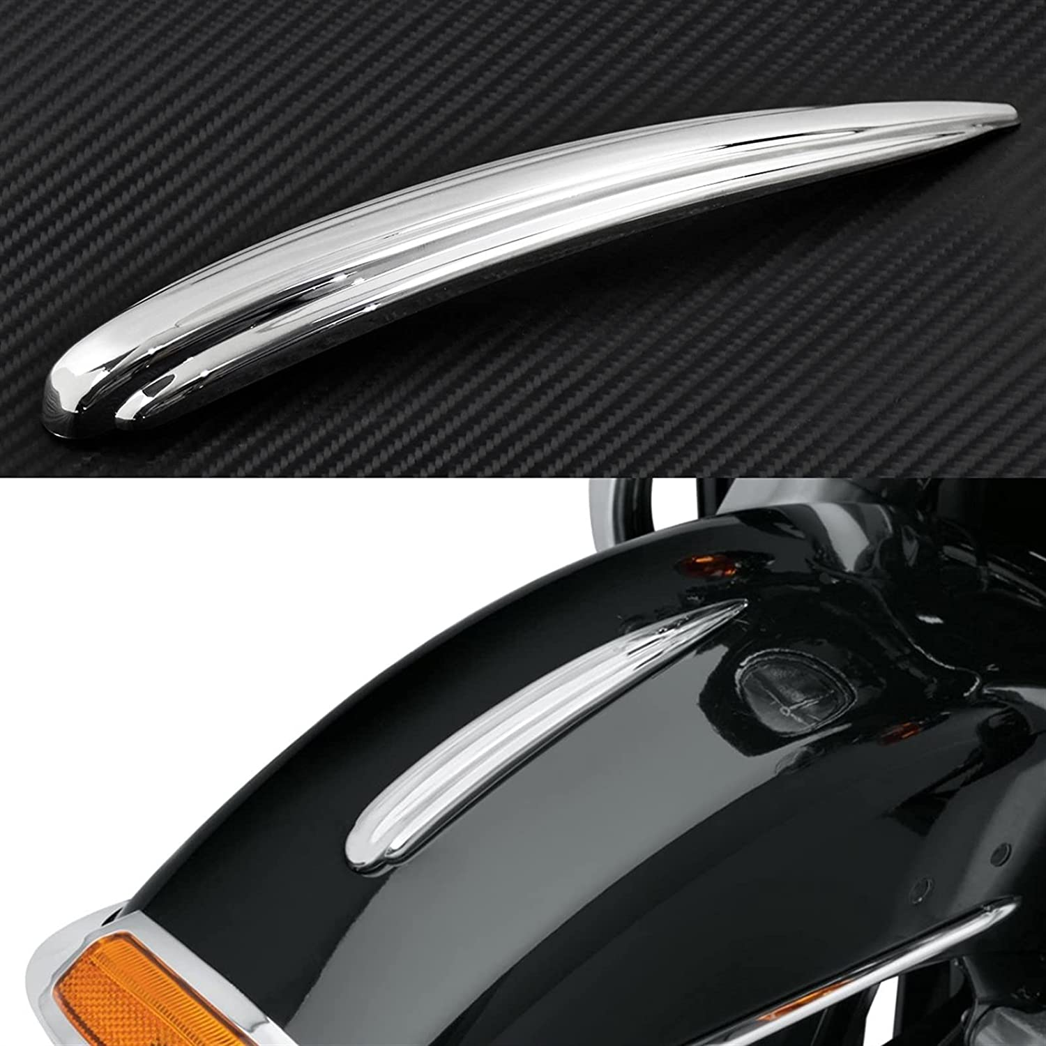 Oklahoma City Mall JINJUANYAO Motorcycle Chrome Front Fender ABS Plastic Trim f Seasonal Wrap Introduction Fit