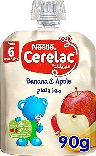 Nestle Cerelac Fruits Puree Pouch Banana Apple, 90g
