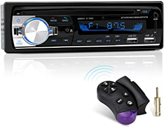 Autoradio mit Bluetooth Freisprecheinrichtung und Lenkrad Fernbedienung, 1 DIN Autoradio MP3 Player/FM Radio, 2 USB Anschlüsse für Musikspielen und Aufladen