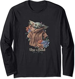 Star Wars: The Mandalorian The Child Floral Realistic Manche Longue