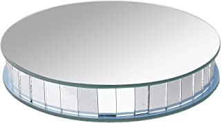 Darice 1636-101 Floral Mirror Round Pedestal 6 Inches