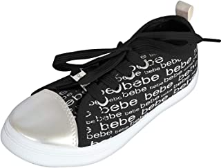 bebe Girls Low Top Canvas Fashion Sneakers (Toddler/Little Kid/Big Kid)