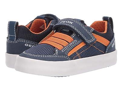 Geox Kids Kilwi 44 (Toddler/Little Kid) (Blue Orange) Boy