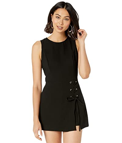 BCBGeneration Lace-Up Overlay Romper GEF9E040 (Black) Women