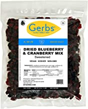 Gerbs Dried Blueberry & Cranberry Fruit Mix, 2 LBS. - Top 14 Food Allergy Free & NON GMO - Unsulfured & Preservative Free - Cape Cod Trail Mix