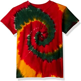 Liquid Blue Unisex-Child 11108Y-960-XL Rasta Spiral Short Sleeve T-Shirt Short Sleeve T-Shirt - Multi