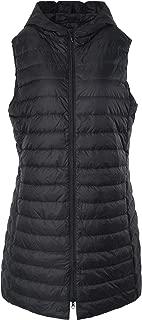 Women's Long Down Vest Zipper Lightweight Puffer Jackets with Hood
