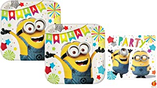 Despicable Me Minions Party Supplies Paper Plates and Napkins