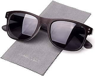 Polarized Sunglasses For Men, Wood Grain Decoration Square Frame, UV400 Lens