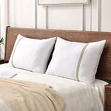 مجموعة وسائد سرير فندقية محشوة ببديل الريش للنوم من جيه زد اس مقاس كوين مكونة من قطعتين…
