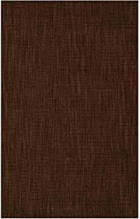 Wool Blend Dalton Rectangular Rug Low Profile Fire Resistant for Fireplace and Home 24 x 42 Chocolate