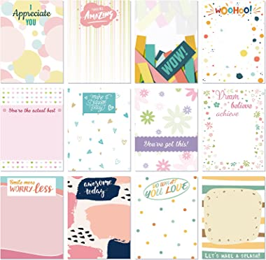 12 Pieces Appreciation Sticky Notes 3 x 4 Inch Modern Sticky Notes Colorful Encouragement Notepads Repositionable to Do List