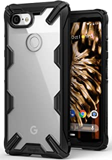 Ringke [Fusion-X] Compatible with Pixel 3 Case Ergonomic Transparent [Military Drop Tested Defense] Hard PC Back TPU Bumpe...