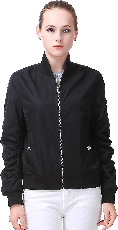 MIYA Classic Flight Jacket Short Bomber Jacket Women Coat