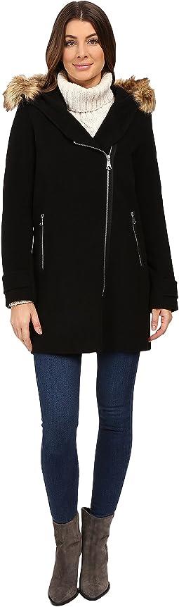 Paloma Asymmetrical Zip Coat