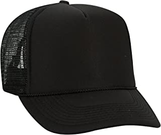 Product of Ottocap Polyester Foam Front Five Panel High Crown Mesh Back Trucker Hat -Royal [Wholesale Price on Bulk]