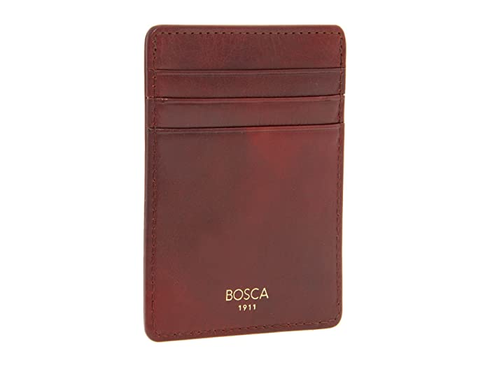 Bosca  Old Leather Collection - Deluxe Front Pocket Wallet (Cognac Leather) Bi-fold Wallet