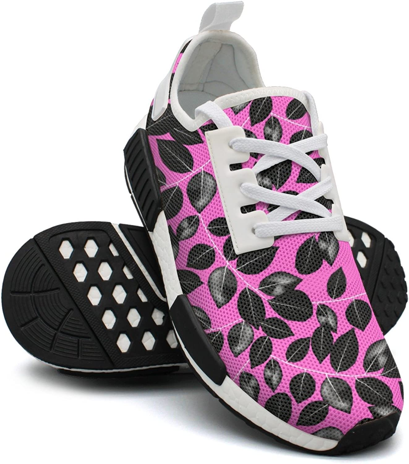 Tropical Black Leaves Women's Novelty Lightweight Tennis Sneakers Gym Outdoor Sports shoes