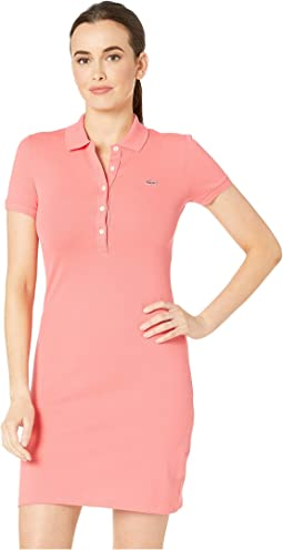 Short Sleeve Pique Polo Dress
