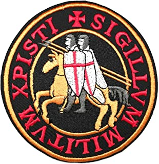 Parche Termoadhesivo Sello Templario Xpisti Sigillum Militum 10cm