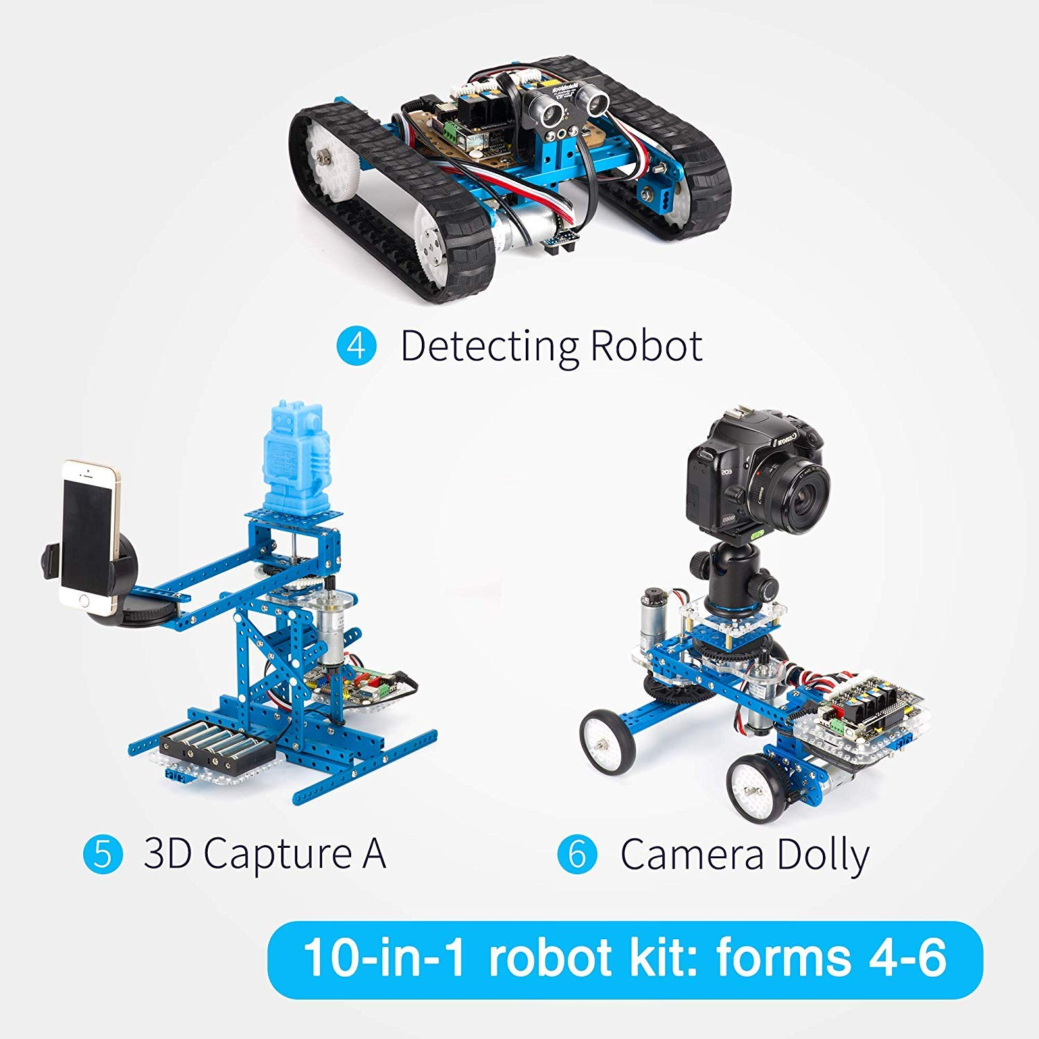 Makeblock DIY Ultimate Robot Kit - Premium Quality - 10-in-1 Robot - STEM Education - Arduino - Scratch 2.0 - Programmable Robot Kit for Kids to Learn Coding, Robotics and Electronics
