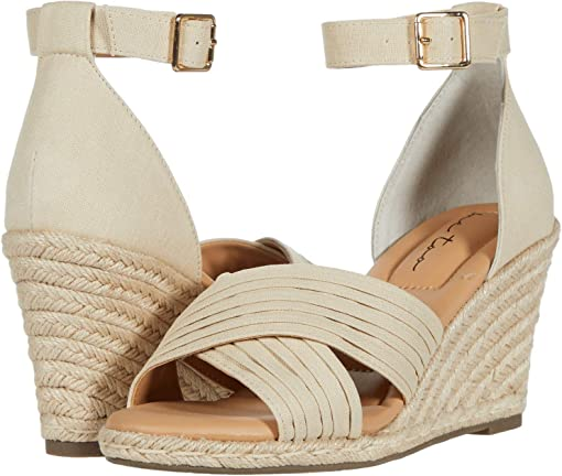 Natural Canvas/Natural Jute Wedge
