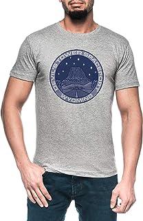 Devils Tower Spaceport Hombre Gris Camiseta Manga Corta Men's Grey T-Shirt