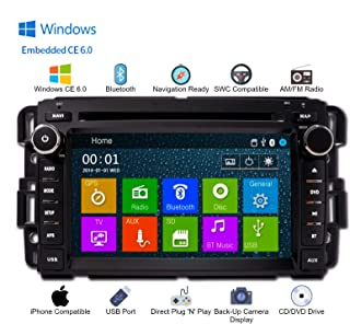 DVD CD GPS Navigation Bluetooth Touch Screen Radio Stereo for Chevrolet Silverado 2007-2013, Avalanche 07-13, Express Van 08-11, Traverse 08-12, Buick Enclave 08-12 (Bose Compatible)