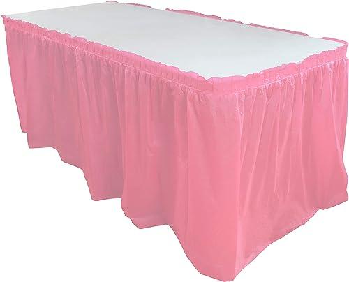 ahorra hasta un 70% Exquisito Color sólido 14ft. Plástico Mantel de plástico desechables desechables desechables falda, tableskirts 6Count  clásico atemporal