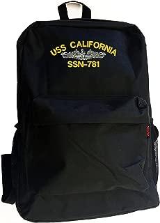 USS CALIFORNIA SSN-781 Battleship Military Backpack Bag