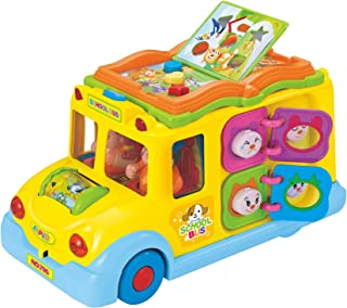 Hola Toys - Keep Me Busy School Bus, Learn with Sounds, Electronic Toy, Toddler, Preschool, Kids, Learning Toy, Kids Birthday Present Idea, -