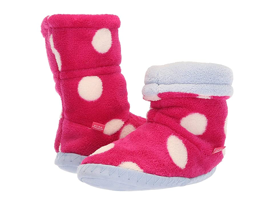Joules Kids Fleece Lined Slippersock (Toddler/Little Kid) (Raspberry Rose Spot) Girls Shoes