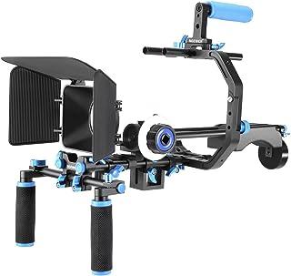 Neewer Videoinspelningsset: 1 x C-format fäste 1 x handtag 2 x stänger 1 x kompendium 1 x skärpverktyg 1 x axelhållare för...