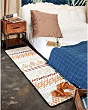 Moroccan Style Bedside Rug Bedroom Striped Nordic Ethnic Style Simple Striped Bedside Rug Bath Mat Washable Soft mat (Colo...