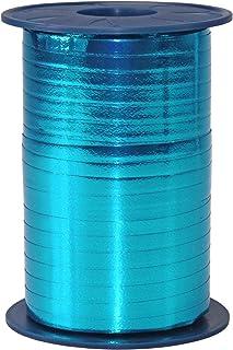 C.E. Pattberg Präsent Mexico Ruban bolduc effet métallique Turquoise 5 mm - 400 m
