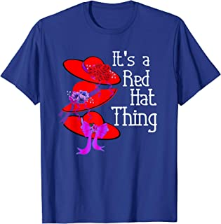 Red Hat Society It's a Red Hat Thing Vintage T Shirt