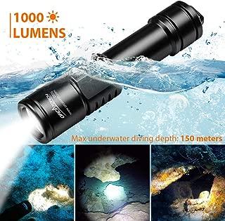 ORCATORCH D520 Diving Flashlight 1000 Lumens Scuba Diving Light Submarine Light Underwater 150m Scuba Safety Lights