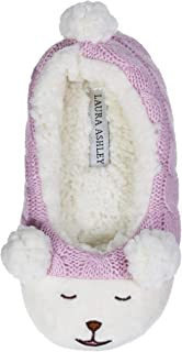 Laura Ashley Kids Girls Plush Animal Ballerina Slip-Ons (See Colors and Sizes)