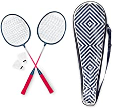 SOUTH BEACH Badminton Set - 2 Rackets, 3 Shuttles, Carrying Case - Family, Beginner, Starter