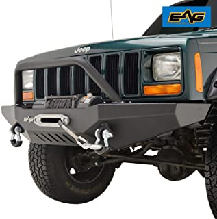 EAG Steel Front Bumper with Winch Plate