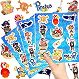 German Trendseller ® - 72 x Piraten Kinder Sticker - Set Mix ┃ Kindergeburtstag ┃ Mitgebsel ┃ Piraten Party ┃ 6 Bögen