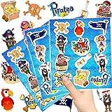 German-Trendseller  - 72 x Piraten Kinder Sticker - Set┃ Neu ┃ Mix ┃ Kindergeburtstag ┃ Mitgebsel ┃ Piraten Party ┃ 6 Bögen