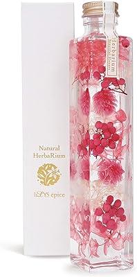 [ リリスエピス ] liLYS épice ハーバリウム 母の日 プレゼント プリザーブドフラワー 誕生日 ギフト スクエアボトル 日本製 (ローズピンク) sh1pk