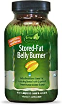 Irwin Naturals Stored-Fat Belly Burner with Sinetrol, Grapefruit, Sweet Orange & Blood Orange - Breakdown Stubborn Fat - 60 Liquid Softgels